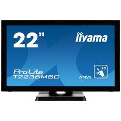 "iiyama ProLite T2236MSC-B2 - Monitor LED - 22"" (21.5"" visível) - ecrã de toque - 1920 x 1080 Full HD (1080p) @ 60 Hz - A-MVA -"