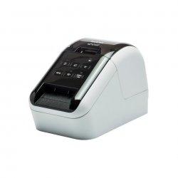Brother QL-810W - Impressora de etiquetas - duas cores (monocromático) - papel térmico - Rolo (6,2 cm) - 300 x 600 ppp - até 17