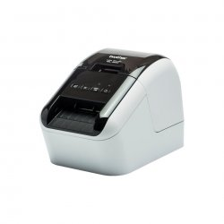 Brother QL-800 - Impressora de etiquetas - duas cores (monocromático) - papel térmico - Rolo (6,2 cm) - 300 x 600 ppp - até 148
