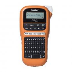 Brother P-Touch PT-E110VP - Etiquetadora - monocromático - tranferência térmica - Rolo (1,2 cm) - 180 dpi - até 20 mm/ s - impr