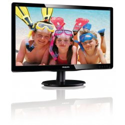 "Philips V-line 200V4LAB2 - Monitor LED - 20"" (19.5"" visível) - 1600 x 900 - 200 cd/m² - 600:1 - 5 ms - DVI-D, VGA - altifalante"
