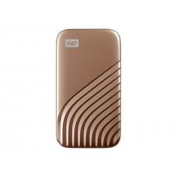 WD My Passport SSD WDBAGF5000AGD - Unidade de estado sólido - encriptado - 500 GB - externa (portátil) - USB 3.2 Gen 2 (USB C c