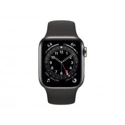 Apple Watch Series 6 (GPS + Cellular) - 40 mm - aço inoxidável grafite - relógio inteligente Com banda de desporto - fluoroelas