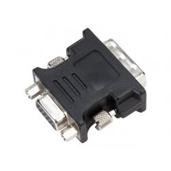 Targus - Adaptador de vídeo - DVI-I macho para HD-15 (VGA) fêmea - preto - parafusos manuais - para Targus Universal, Universal