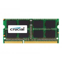 Crucial - DDR3 - módulo - 4 GB - SO DIMM 204-pinos - 1333 MHz / PC3-10600 - CL9 - 1.35 / 1.5 V - unbuffered - sem ECC - para Ap