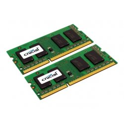 Crucial - DDR3L - 8 GB: 2 x 4 GB - SO DIMM 204-pinos - 1600 MHz / PC3-12800 - CL11 - 1.35 V - unbuffered - sem ECC