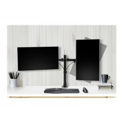 Kensington SmartFit Ergo Dual Extended Monitor Arm - Kit de montagem - para 2 monitores (braço ajustável) - metal - preto - tam