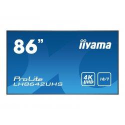 """iiyama ProLite LH8642UHS-B1 - 86"""" Classe Diagonal (86"""" visível) ecrã LCD com luz de fundo LED - sinalização digital - 4K UHD (2"""