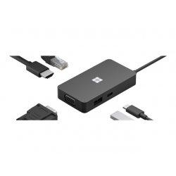 Microsoft USB-C Travel Hub - Estação de engate - USB-C - VGA, HDMI - GigE