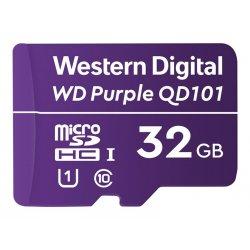 WD Purple SC QD101 WDD032G1P0C - Cartão de memória flash - 32 GB - UHS-I U1 / Class10 - microSDHC - púrpura