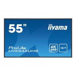"""iiyama ProLite LH5542UHS-B1 - 55"""" Classe Diagonal (54.6"""" visível) ecrã LCD com luz de fundo LED - sinalização digital - 4K UHD"""