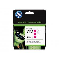 HP 712 - Pack de 3 - 29 ml - magenta - original - DesignJet - tinteiro - para DesignJet Studio, T210, T230, T250, T630, T650