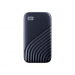 WD My Passport SSD WDBAGF5000ABL - Unidade de estado sólido - encriptado - 500 GB - externa (portátil) - USB 3.2 Gen 2 (USB C c