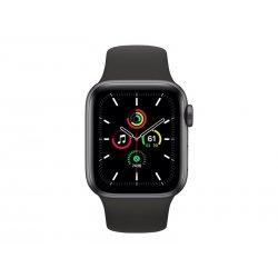 Apple Watch SE (GPS) - 40 mm - alumínio cinzento espaço - relógio inteligente Com banda de desporto - fluoroelastómero - preto