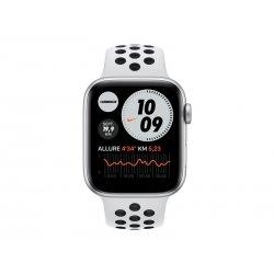 Apple Watch Nike SE (GPS) - 44 mm - alumínio prata - relógio inteligente Com fita de desporto Nike - fluoroelastómero - platina