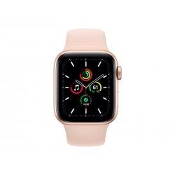 Apple Watch SE (GPS) - 40 mm - alumínio dourado - relógio inteligente Com banda de desporto - fluoroelastómero - areia cor de r