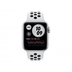 Apple Watch Nike SE (GPS) - 40 mm - alumínio prata - relógio inteligente Com fita de desporto Nike - fluoroelastómero - platina