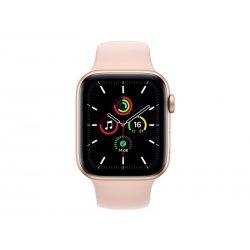 Apple Watch SE (GPS) - 44 mm - alumínio dourado - relógio inteligente Com banda de desporto - fluoroelastómero - areia cor de r