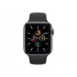 Apple Watch SE (GPS) - 44 mm - alumínio cinzento espaço - relógio inteligente Com banda de desporto - fluoroelastómero - preto