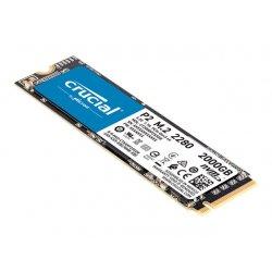 Crucial P2 - Unidade de estado sólido - 2 TB - interna - M.2 2280 - PCI Express 3.0 x4 (NVMe)