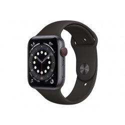 Apple Watch Series 6 (GPS + Cellular) - 44 mm - alumínio cinzento espaço - relógio inteligente Com banda de desporto - fluoroel