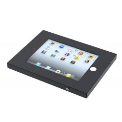 NewStar IPAD2N-UN20BLACK - Cobertura para tablet - aço - preto - interface de montagem: 100 x 100 mm - montável em teto, montáv