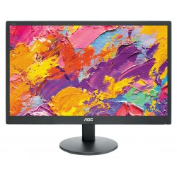 "AOC E970SWN - Monitor LED - 18.5"" - 1366 x 768 - TN - 200 cd/m² - 700:1 - 5 ms - VGA - preto"