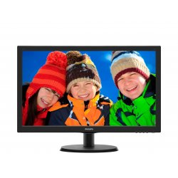 """Philips V-line 223V5LSB2 - Monitor LED - 21.5"""" - 1920 x 1080 Full HD (1080p) - 200 cd/m² - 600:1 - 5 ms - VGA - preto texturiza"""