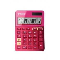 Canon LS-123K - Calculadora de secretária - 12 dígitos - Painel solar, bateria - rosa metálico