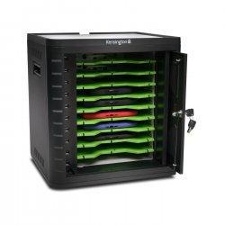 Kensington Charge & Sync Cabinet, Universal Tablet - Unidade gabinete para 10 tablets - preto