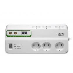 APC SurgeArrest Home/Office - Protector contra picos de corrente - AC 230 V - 2300 Watt - conectores de saída: 6 - Alemanha - b