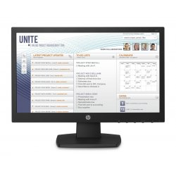 """HP v197 - Monitor LED Com chave KVM - 18.5"""" (18.5"""" visível) - 1366 x 768 - TN - 200 cd/m² - 600:1 - 5 ms - DVI-D, VGA - preto"""