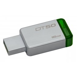 Kingston DataTraveler 50 - Drive flash USB - 16 GB - USB 3.1 - verde