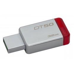 Kingston DataTraveler 50 - Drive flash USB - 32 GB - USB 3.1 - vermelho