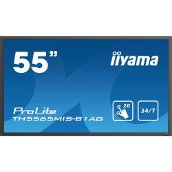 "iiyama ProLite TH5565MIS-B1AG - 55"" Classe (54.6"" visível) visor LED - sinalização digital - com ecrã tátil - 1080p (Full HD) 1"