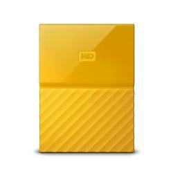 WD My Passport WDBYNN0010BYL - Disco rígido - encriptado - 1 TB - externa (portátil) - USB 3.0 - 256-bits AES - amarelo
