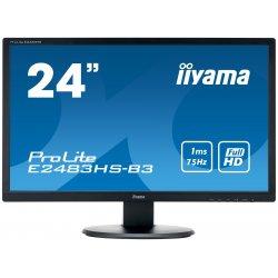 "iiyama ProLite E2483HS-B3 - Monitor LED - 24"" (24"" visível) - 1920 x 1080 Full HD (1080p) - TN - 250 cd/m² - 1000:1 - 1 ms - HD"
