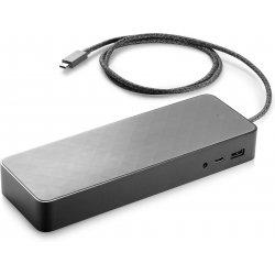 HP Universal - Estação de engate - USB-C - 2 x DP - GigE - 90 Watt - com Adaptador de 4,5 mm - EU - para EliteBook 735 G6, 745