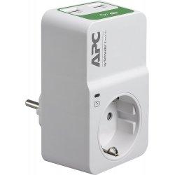 APC Essential Surgearrest PM1WU2 - Protector contra picos de corrente - AC 230 V - conectores de saída: 1 - Alemanha - branco