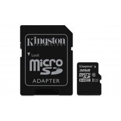 Kingston Canvas Select - Cartão de memória flash (adaptador microSDHC a SD Incluído) - 32 GB - UHS Class 1 / Class10 - microSDH
