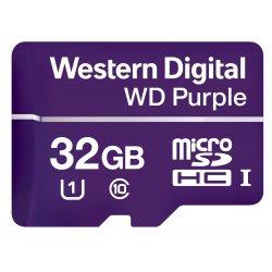 WD Purple WDD032G1P0A - Cartão de memória flash - 32 GB - UHS-I U1 / Class10 - microSDHC - púrpura