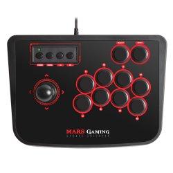 MARS GAMING MRA - Arcade stick - 14 botões - com cabo - preto, vermelho - para Sony PlayStation 2, Sony PlayStation 3