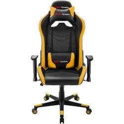 Mars Gaming MGC3 - Cadeira - descansos de braços - em forma de T - inclinação - giratório - nylon, poliuretano, PVC, couro arti