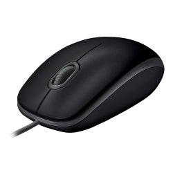 Logitech B110 Silent - Rato - destros e canhotos - óptico - 3 botões - com cabo - USB