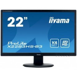 "iiyama ProLite X2283HS-B3 - Monitor LED - 22"" (21.5"" visível) - 1920 x 1080 Full HD (1080p) - VA - 250 cd/m² - 3000:1 - 4 ms -"