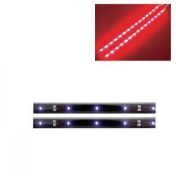 Fita LED auto-adesiva dupla 12VDC vermelha c/ botão ON/OFF