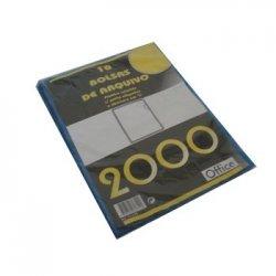 Bolsa Plastico em L C/Visor A4 Translucido Sortido 314PL 10u