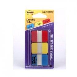 Post-it Index Rigida Vermelho, Amarelo e Azul 1un.