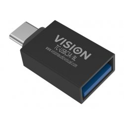 VISION Professional installation-grade USB-C to USB-A adapter - plugs into USB-C and has full-sized USB-A 3.0 socket - USB-C (M