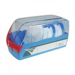 Ficheiro CD/DVD p/60unid Transparente/Azul-1un